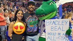 NBA/明星賽遺珠 他放閃爆乳女友 NBA,華盛頓巫師,Bradley Beal,全明星賽,女友,爆乳 翻攝自推特