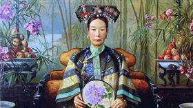 美國女畫家凱瑟琳·卡爾/慈禧太后畫像。翻攝維基