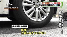 日本電視採訪中!司機手機響起 被告知「陽性確診」傻了(圖/翻攝自推特)