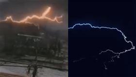武漢,天氣,異變,冰雹,打雷,閃電,微博 圖/翻攝自YouTube