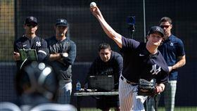 ▲柯爾(Gerrit Cole)投BP,面對8人三振其中5人。(圖/翻攝自NY Baseball News推特)