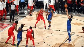 NBA/湖人詹、眉聯手贏下明星賽 NBA,全明星賽,LeBron James,Anthony Davis 翻攝自推特