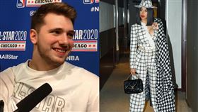 NBA/明星賽偷瞄女星 東契奇臉紅 NBA,達拉斯獨行俠,Luka Doncic,全明星賽,Cardi B 翻攝自推特、IG Cardi B