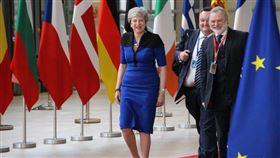 歐盟峰會 梅伊最後一次出席盼實現脫歐英國首相梅伊6月20日最後一次出席歐盟例行峰會,她受訪時仍盼實現脫歐。中央社記者唐佩君布魯塞爾攝  108年6月21日