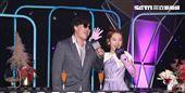 蕭煌奇、LULU今(18日)出席台語歌唱綜藝《上奅台灣歌》開播記者會。圖/記者邱榮吉攝影
