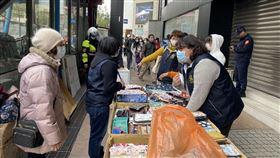 台北分署,大安分局,違規攤販 大安分局提供