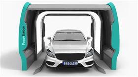 ▲能夠掃描全車的Weproov AI 3D掃描儀。(圖/翻攝網站)