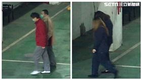 潤寅詐貸案,楊文虎父女搭乘同一班囚車抵達台北地方法院。(圖/記者楊佩琪攝)