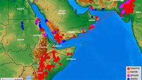 東非正遭嚴重蝗災,大批蝗蟲目前已經來到烏干達和坦尚尼亞,這場蝗害是近幾十年來最嚴重。圖為2020年1月情形。(圖取自聯合國糧農組織網頁fao.org)