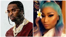 美國饒舌歌手Pop Smoke遭到槍殺。(圖/翻攝自Pop Smoke臉書、Nicki Minaj IG)