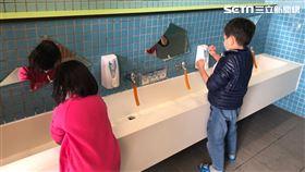 學童,幼兒,洗手 圖/新北市教育局提供