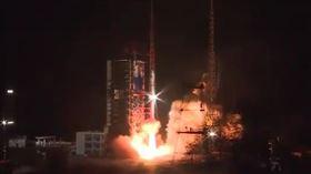 中國「一箭四星」發射衛星 官媒爽嗨:火箭都復工了  圖/央視