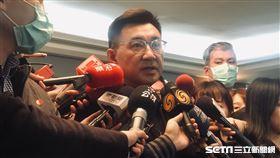 國民黨主席補選候選人江啟臣。(圖/記者林恩如攝)