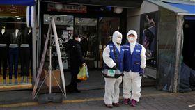 南韓,武漢肺炎,冠狀病毒,口罩,感冒,新冠肺炎。(圖/路透社/達志影像)