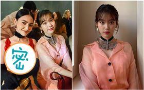 IU現身米蘭Gucci 2020秋冬大秀,與泰國女星Mai Davika同框合照。(圖/翻攝自IG)