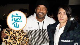 時尚部落客莫莉遇見好萊塢影星威爾史密斯以及日本男神山下智久。(圖/翻攝自 @molly_chiang IG)