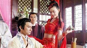 劉真 電視劇《他愛江山我愛美人/問君能有幾多愁》飾演「窅娘」/吳奇隆飾演「李煜」。翻攝豆瓣