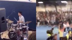 美國男孩打鼓歡聲雷動,但因為音樂遭到學校開除。(圖/翻攝自Youtube)