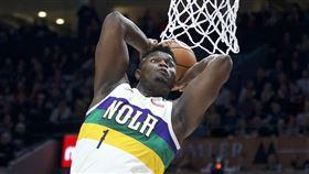 ▲威廉森(Zion Williamson)連3場得分破20,是NBA過去20年新秀第1人。(圖/美聯社/達志影像)