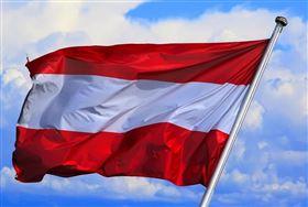 奧地利,國旗 (圖/翻攝自pixabay