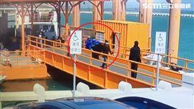 九宮碼頭,浮橋引道,重機,翹孤輪,金門