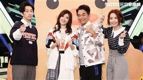 陳漢典(左起)、蘇慧倫、吳宗憲、Lulu今日錄製《綜藝大熱門》。(圖/記者林聖凱攝影)