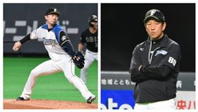 ▲日本職棒火腿隊投手金子弌大(左)、總教練栗山英樹(右)。(圖/記者王怡翔攝影)