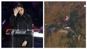 ▲Kobe Bryant追思會,遺孀Vanessa Bryant(左)、Kobe Bryant搭乘的直升機。(圖/美聯社/達志影像、AP授權)