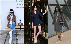 (左至右)Melody、歐陽娜娜、楊冪穿上 ChloéSonnie運動鞋。(圖/翻攝自IG)