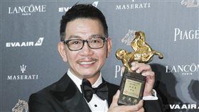 第55屆金馬獎最佳男配角袁富華「翠絲」。(記者邱榮吉、林士傑/攝影)