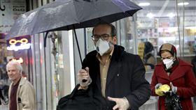 義大利,武漢肺炎,口罩,美聯社/達志影像