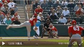 ▲紅雀左投利柏索(Matthew Liberatore)曲球尾勁超狂。(圖/翻攝自Cardinals Nation 247推特)
