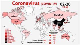 武漢肺炎(COVID-19、新冠肺炎)疫情延燒,全球累計至今(26)已突破8.1萬例確診、逾2700人死亡,近日連中東、東歐、南美等國家相繼失守,近40國出現確診病例。推特上一長期關注武漢肺炎的帳號今發布了一段「疫情縮時」,短短1分半的影片記錄了自疫情爆發以來的擴散軌跡。(圖/翻攝自WawamuStats YouTube)
