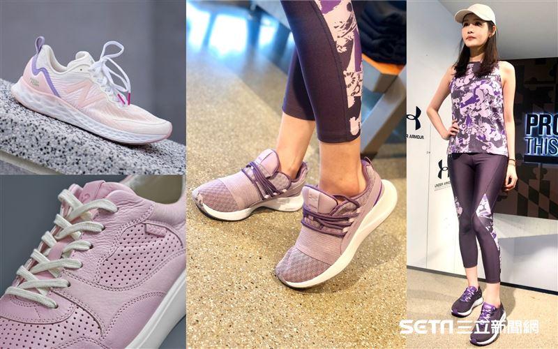 春夏鞋款穿搭 粉嫩紫夢幻色美暈網友
