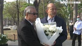 高雄市長韓國瑜今(28)早出席參加228紀念活動。