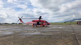 綠島女遊客疑似中風 空勤直升機後送就