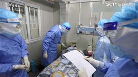 火神山醫院內部。(圖/AP授權)