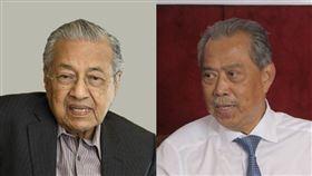 馬來西亞代首相馬哈地(左)1日召開記者會表示,自己從來沒有支持慕尤丁代表土著團結黨出任首相。(左圖為共同社提供,右圖取自臉書facebook.com/ts.muhyiddin)