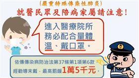 武漢肺炎,醫院,施景中,戴口罩 圖/翻攝自施景中臉書