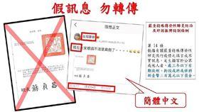 ▲武漢肺炎假訊息(圖/疾管署提供)