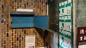 立法院長游錫堃拍下空的巡邏箱(圖/翻攝游錫堃臉書)