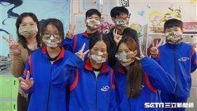 虎林國中老師做口罩套(新竹市政府提供)