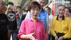 國民黨黨主席選舉,洪秀柱前往投票 圖/記者林敬旻攝