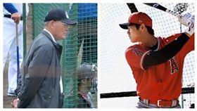 ▲日本球評張本勳(左)再度抨擊美國職棒大聯盟天使隊大谷翔平。(右)(圖/翻攝自推特)