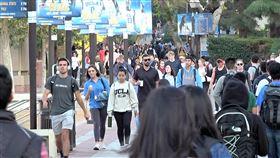 UCLA學生3人隔離 接受武漢肺炎檢測加州大學洛杉磯分校(UCLA)校長卜洛克(Gene Block)6日發布聲明指出,有3名學生正在隔離,接受新型冠狀病毒檢測,目前校內沒有確診案例。圖為UCLA校園。中央社記者林宏翰洛杉磯攝 109年3月7日