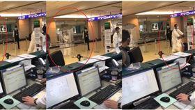 機場,肺炎,防疫,雨傘(圖/翻攝臉書)