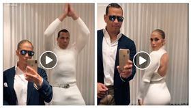 ▲「A-ROD」Alex Rodriguez和老婆Jennifer Lopez合體扭腰秀舞姿。(圖/翻攝自ESPN粉絲團)
