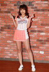 統一獅隊專屬啦啦隊「Uni-girls」新任隊長隊長倪可。(記者邱榮吉/攝影)