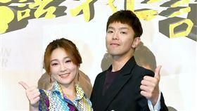 小鬼黃鴻升與張文綺首度搭擋主持《台語我上讚》,今(10日)舉行開播記者會。圖/華視提供