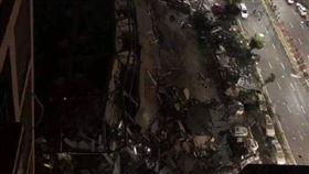 泉州酒店倒塌埋70人 空拍畫面曝光(圖/翻攝自微博)